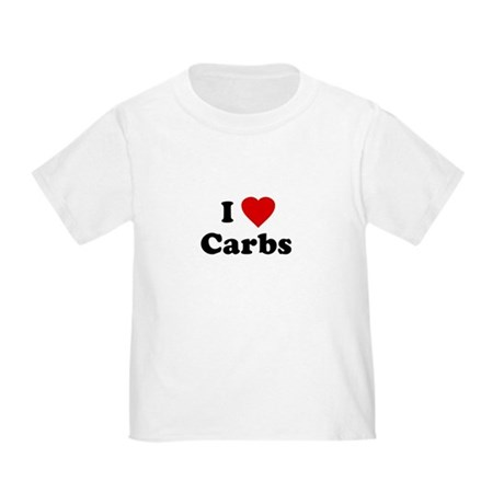 I Love [Heart] Carbs Toddler T-Shirt