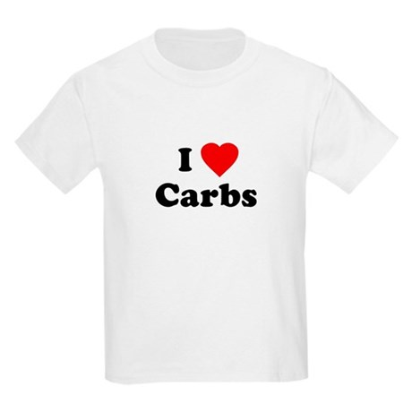 I Love [Heart] Carbs Kids T-Shirt
