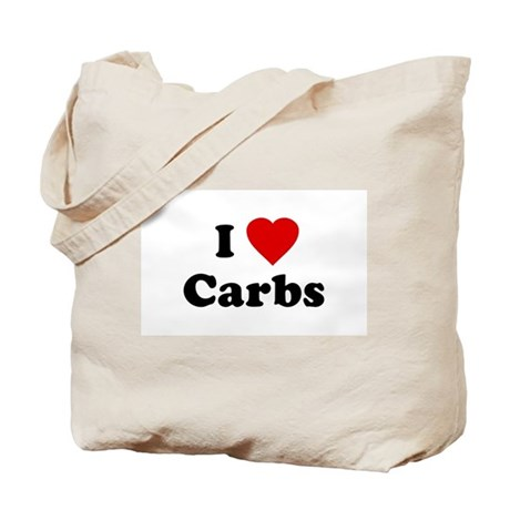 I Love [Heart] Carbs Tote Bag