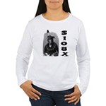SIOUX INDIAN CHIEF Women's Long Sleeve T-Shirt