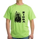 SIOUX INDIAN CHIEF Green T-Shirt
