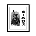 SIOUX INDIAN CHIEF Framed Panel Print