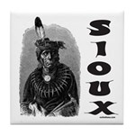 SIOUX INDIAN CHIEF Tile Coaster