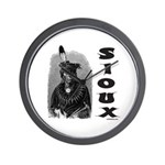 SIOUX INDIAN CHIEF Wall Clock