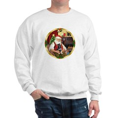 Santa's German Shepherd Pup Sweatshirt