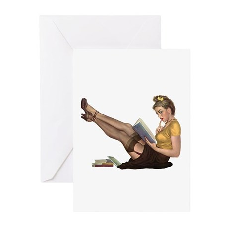 Librarian Girl Greeting Cards (Pk of 10)