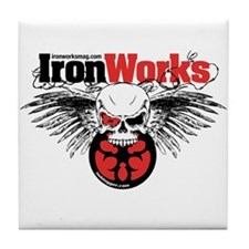 IronWorks Skull Flyer Tile Coaster