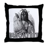 BLACKFEET INDIAN CHIEF Throw Pillow