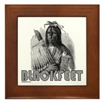 BLACKFEET INDIAN CHIEF Framed Tile