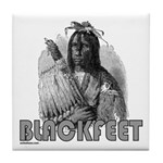 BLACKFEET INDIAN CHIEF Tile Coaster