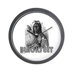 BLACKFEET INDIAN CHIEF Wall Clock