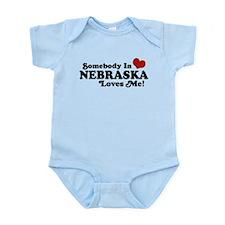 Somebody in Nebraska Loves Me Infant Bodysuit