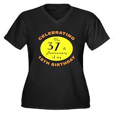 Celebrating 55th Birthday Women's Plus Size V-Neck