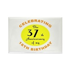 Celebrating 55th Birthday Rectangle Magnet