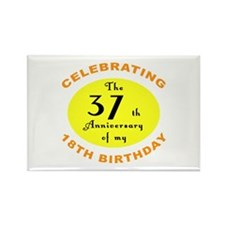 Celebrating 55th Birthday Rectangle Magnet (10 pac
