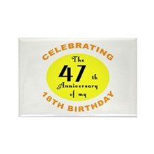Celebrating 65th Birthday Gifts Rectangle Magnet (
