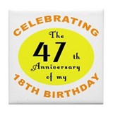 Celebrating 65th Birthday Gifts Tile Coaster