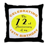 Celebrating 90th Birthday Throw Pillow