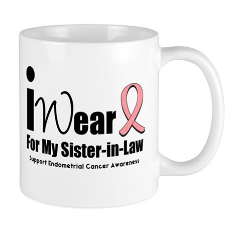I Wear Peach Ribbon Mug