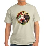 Santa's German Shepherd #14 Light T-Shirt