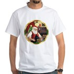 Santa's German Shepherd #14 White T-Shirt