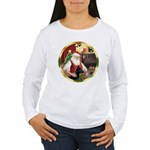 Santa's German Shepherd #14 Women's Long Sleeve T-