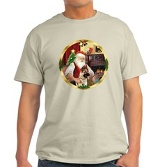 Santa's German Shepherd #13 Light T-Shirt