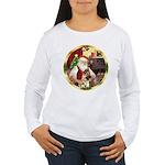 Santa's German Shepherd #13 Women's Long Sleeve T-