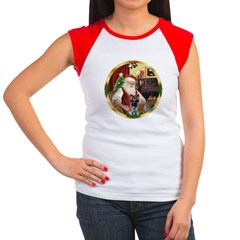 Santa's German Shepherd #12 Women's Cap Sleeve T-S