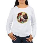 Santa's German Shepherd #12 Women's Long Sleeve T-