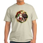 Santa's German Shepherd #11 Light T-Shirt