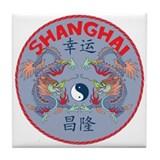 Shanghai Dragons Tile Coaster