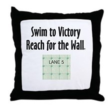 TOP Swim Slogan Throw Pillow