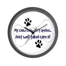 My Chow Chow Isn't Spoiled Wall Clock
