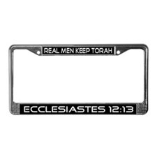 """Real Men Keep Torah"" License Plate Frame"