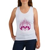 Blazing Pink Skulls Women's Tank Top