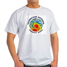 Hurricane Katrina Satellite Ash Grey T-Shirt