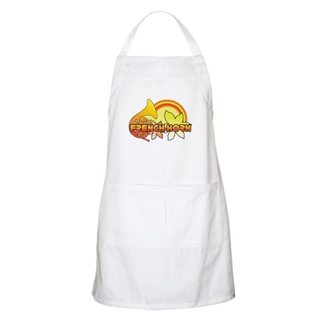 Retro French Horn BBQ Apron