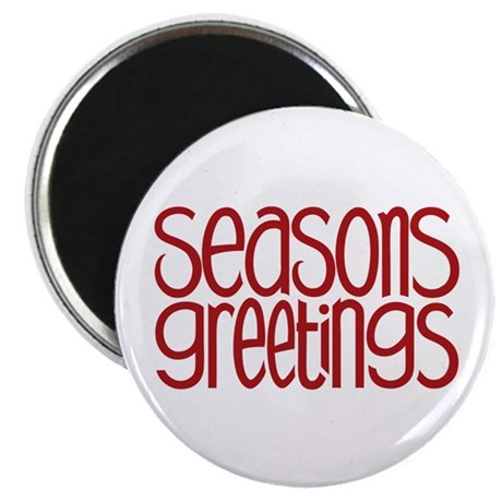 "Seasons Greetings Red 2.25"" Magnet (10 pack)"