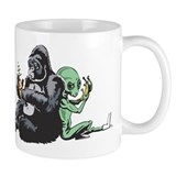 Alien and Gorilla Mug