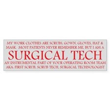 Surgical Technologist Bumper Bumper Sticker