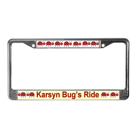 Personalized License Plate Frame - Ladybugs