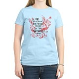 Gandhi Vine - Be the change - Maroon T-Shirt