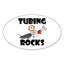 Tubing Rocks Oval Decal