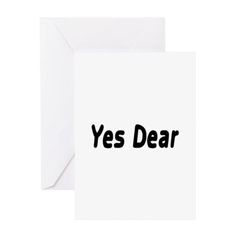 Yes Dear Greeting Card