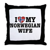 I Love My Norwegian Wife Throw Pillow