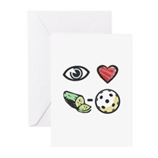 I Love Pickleball Greeting Cards (Pk of 10)