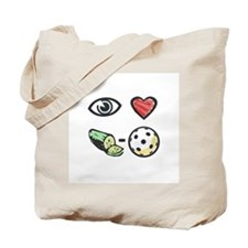 I Love Pickleball Tote Bag