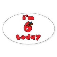 6th Birthday Oval Sticker (50 pk)