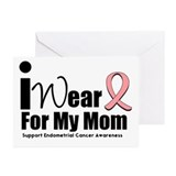 Endometrial/Uterine Cancer Greeting Cards (Pk of 1